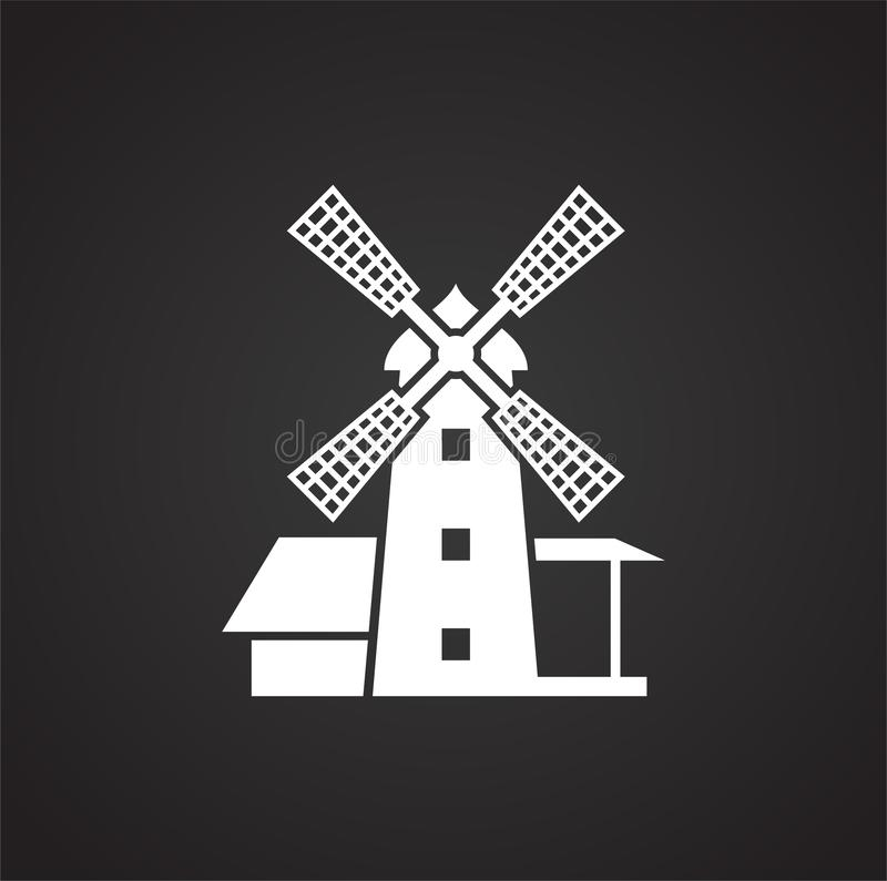 Wind mill icon on background for graphic and web design. Simple illustration. Internet concept symbol for website button. Or mobile app vector illustration