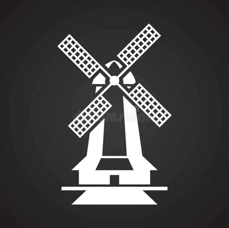 Wind mill icon on background for graphic and web design. Simple illustration. Internet concept symbol for website button. Or mobile app royalty free illustration