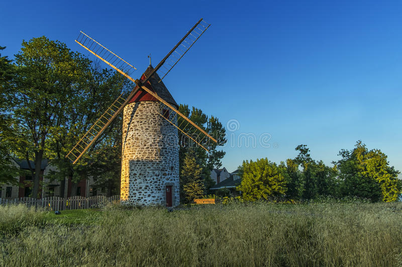 Wind mill. View of a typical wind mill in Montreal Quebec Canada royalty free stock image