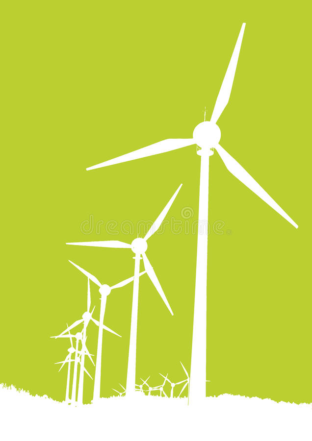 Download Wind Mills stock vector. Illustration of flare, line - 18928363