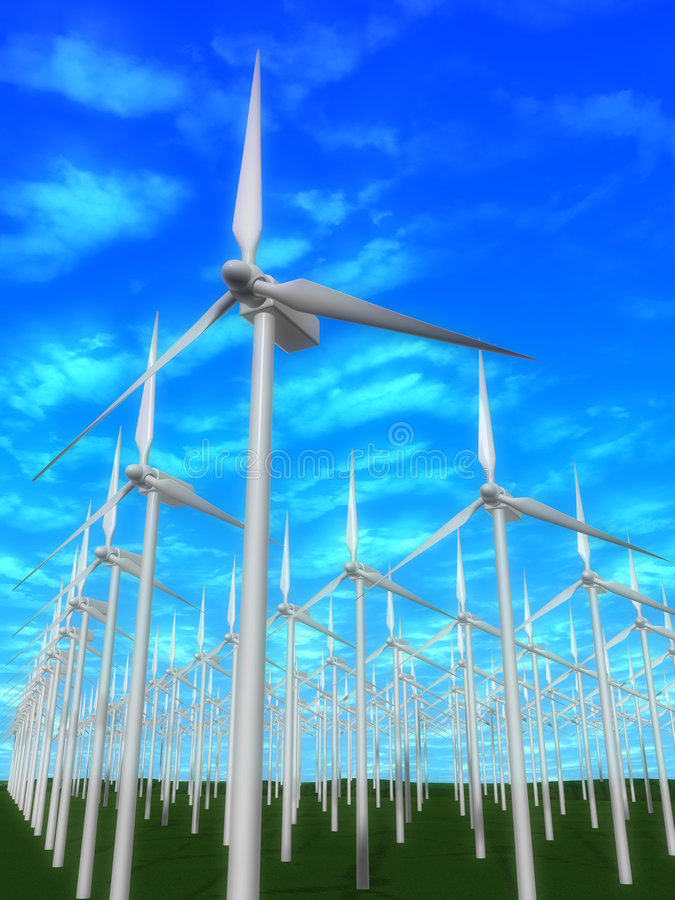 Download Wind mills stock illustration. Image of greenhouseeffect - 2462582