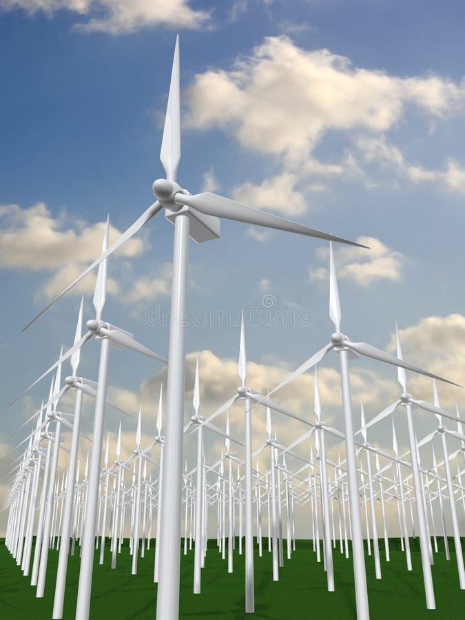 Download Wind mills stock illustration. Illustration of green, desert - 3947192