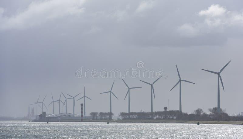Wind Mills Hoek van Holland stock afbeelding