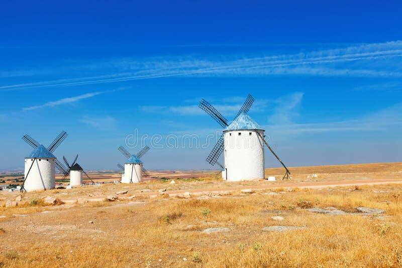 Wind mills in La Mancha, Spain. Wind mills in Campo de Criptana. La Mancha, Spain stock photography