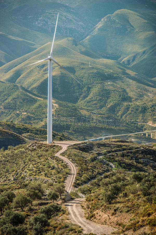 Wind mills. In the plains of Andalusia, Spain royalty free stock photography