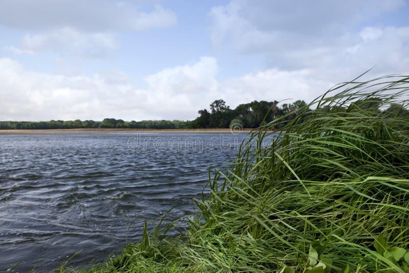 Wind op de Loire-rivier stock fotografie