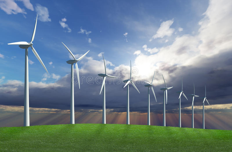 Wind park royalty free stock images