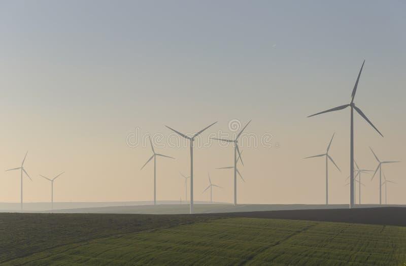 Wind park stock photos