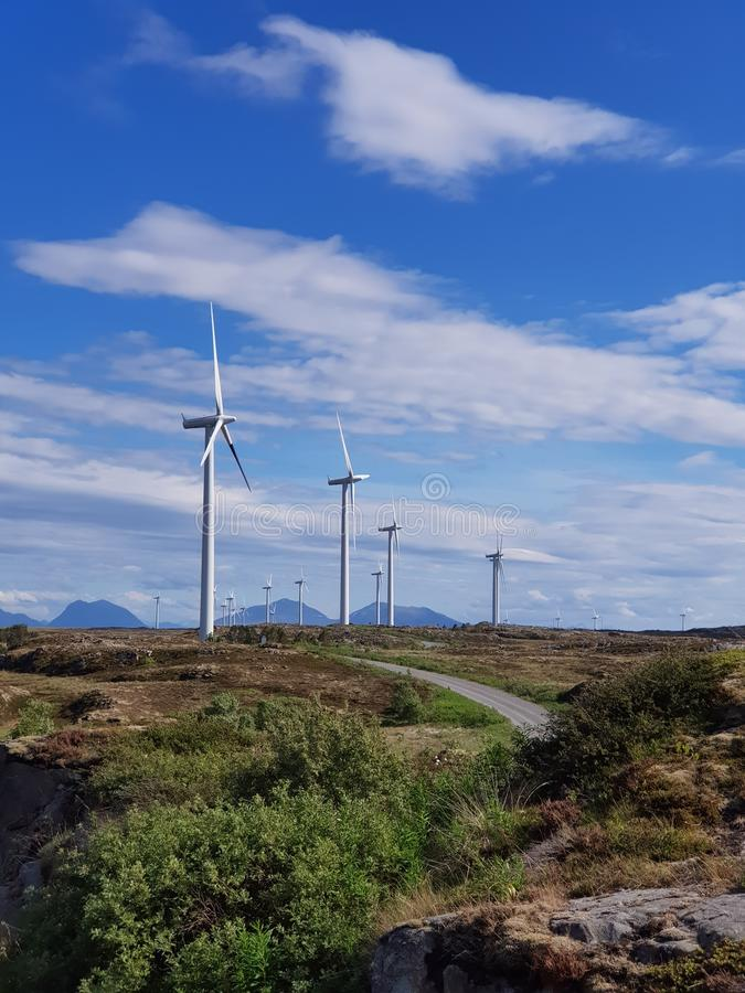 wind park in Norway royalty free stock image