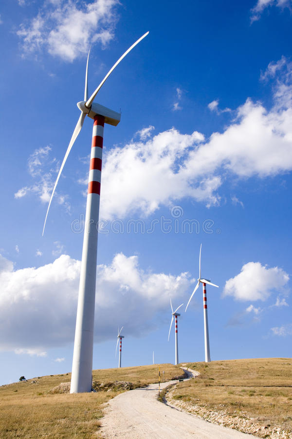 Wind power stock image