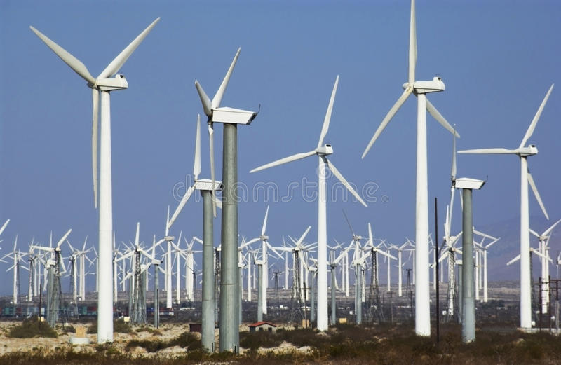 Wind Power - California - USA Stock Photography