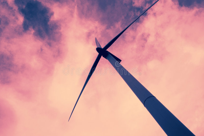 Wind power energy royalty free stock photography