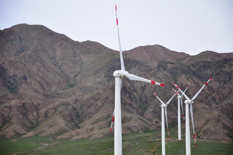 Wind power generation stock photo