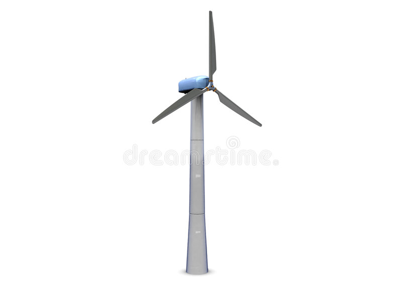 Wind power generator vector illustration
