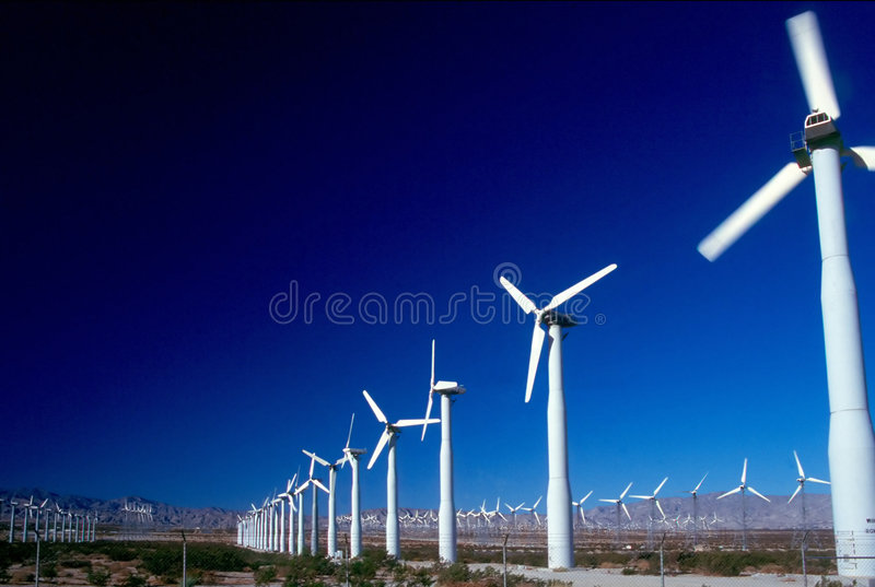 WIND POWER GENERATORS 2 royalty free stock photos