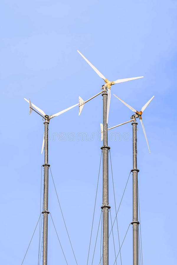 Wind Power Generators Stock Photo