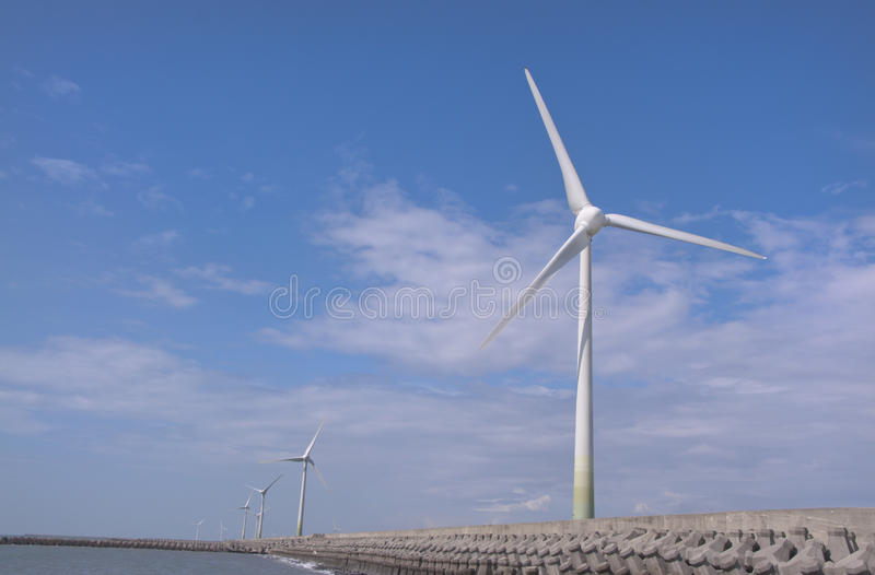 Download Wind Power Group At The Shore Stock Image - Image: 20475989