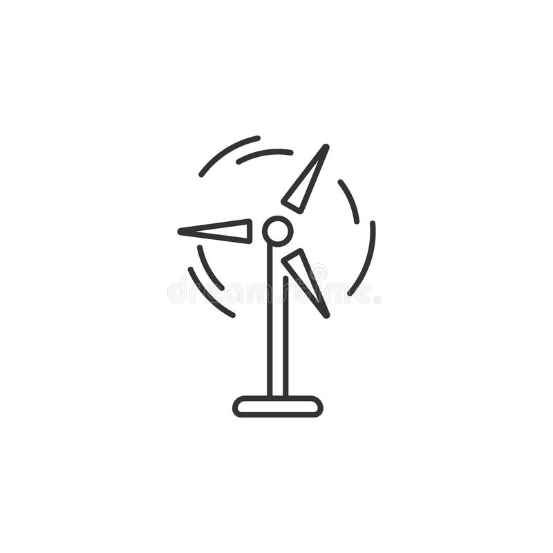 Wind Power Icon Simple Element Illustration Wind Power Symbol