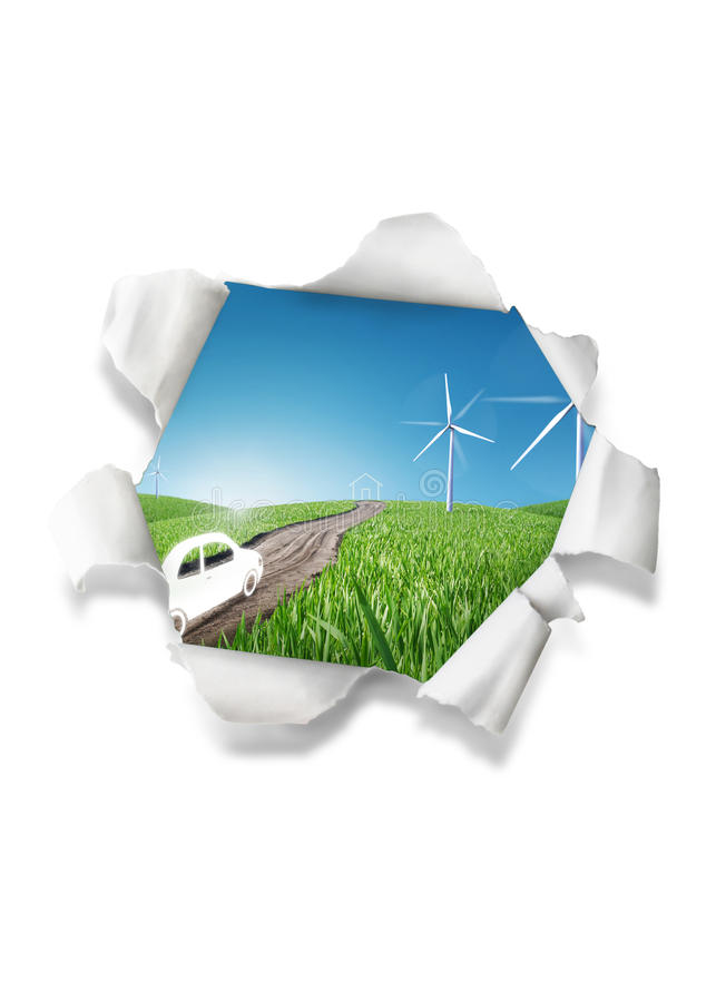 Download Wind power illustration stock illustration. Image of grass - 20528623