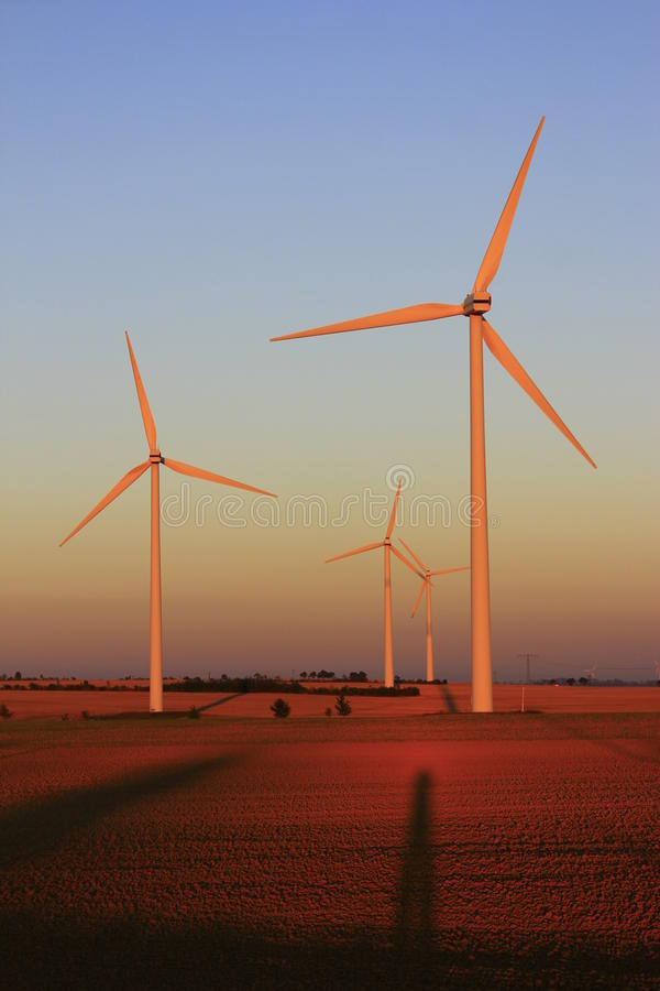 Download Wind power plants stock image. Image of germany, sunset - 25153263