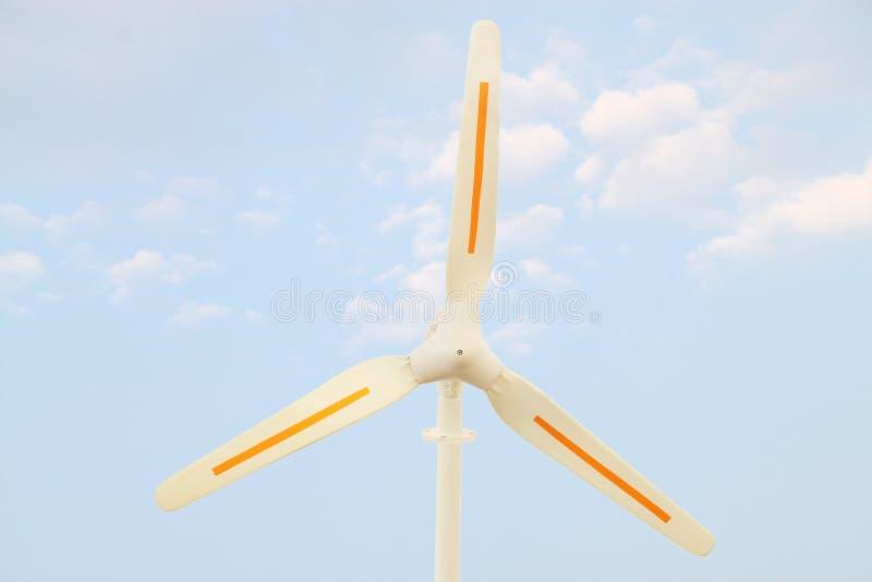 Wind power propeller stock image