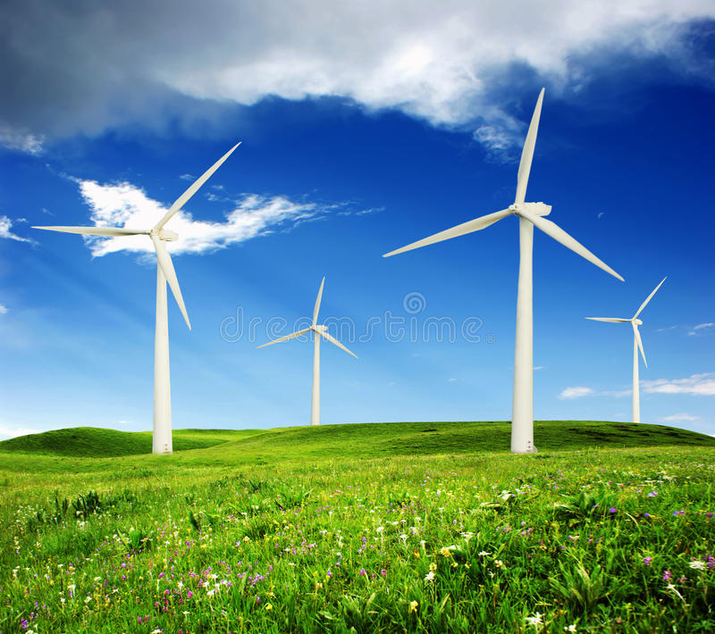 Download Wind Power Station stock photo. Image of clouds, landscape - 17474796