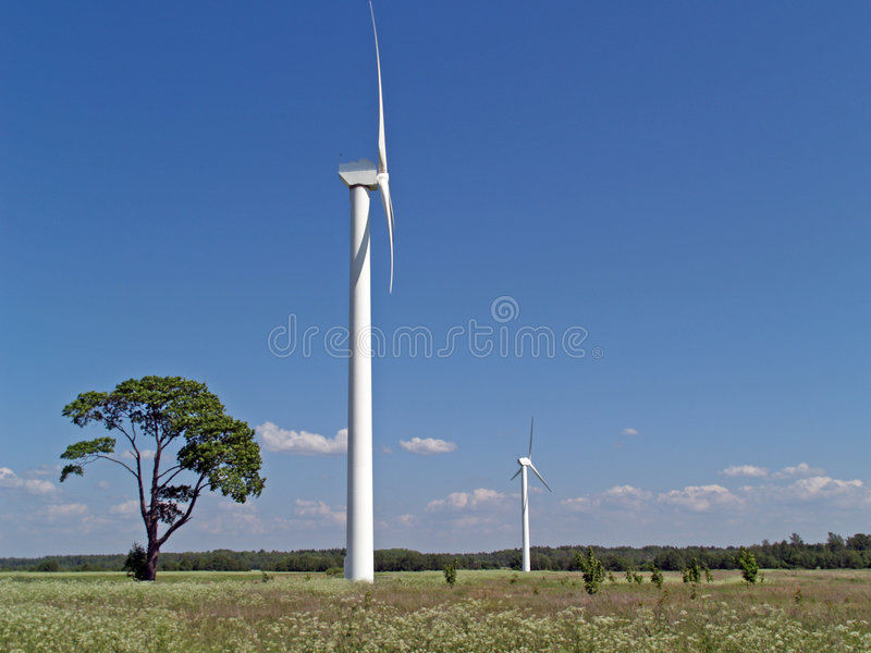 Download Wind power stations stock photo. Image of generator, electric - 1058386