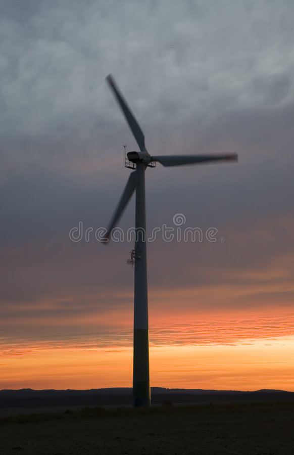 Download Wind Power At Sunset Stock Photos - Image: 3193823