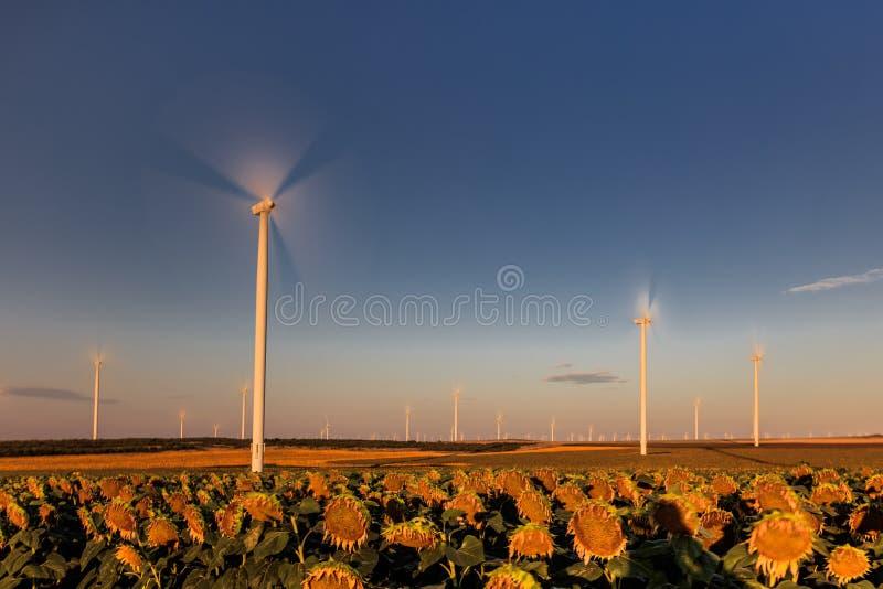 Wind power turbine royalty free stock photo
