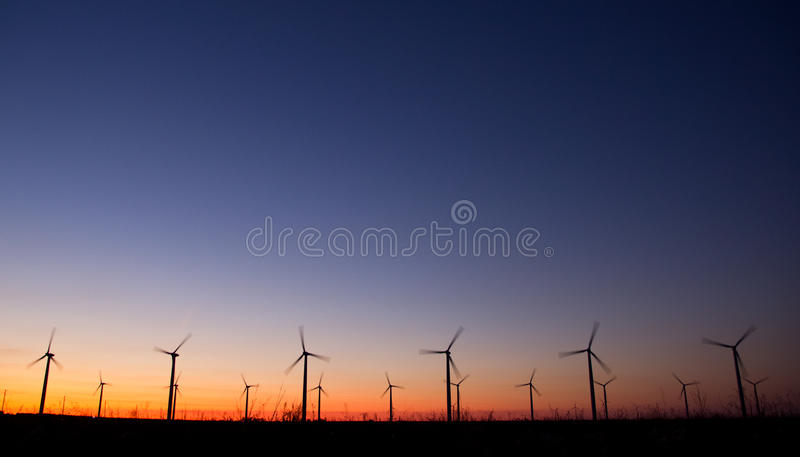 Wind power turbines royalty free stock images