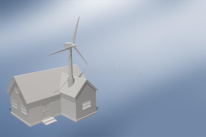 Wind Power / Wind turbines stock illustration