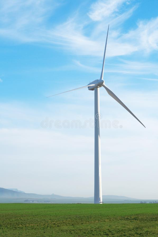 Wind powered generator stock photos