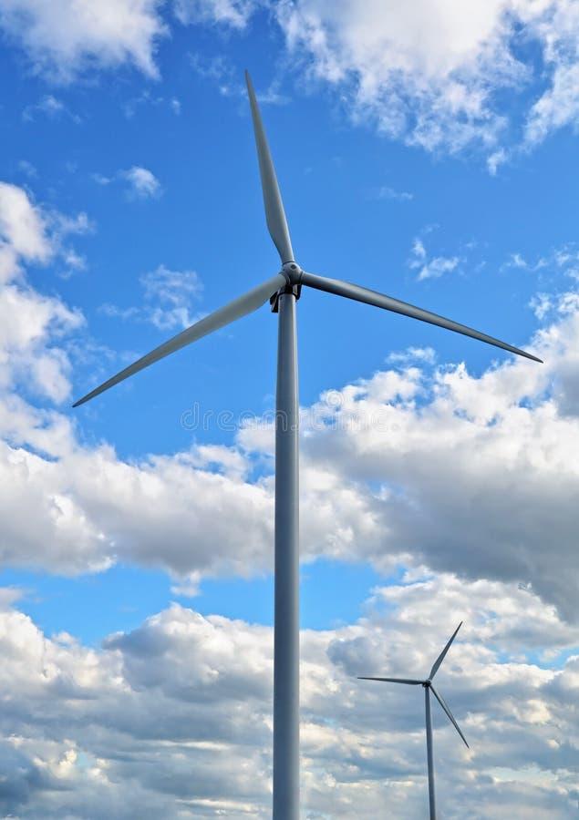 Wind-powered Generators Royalty Free Stock Image