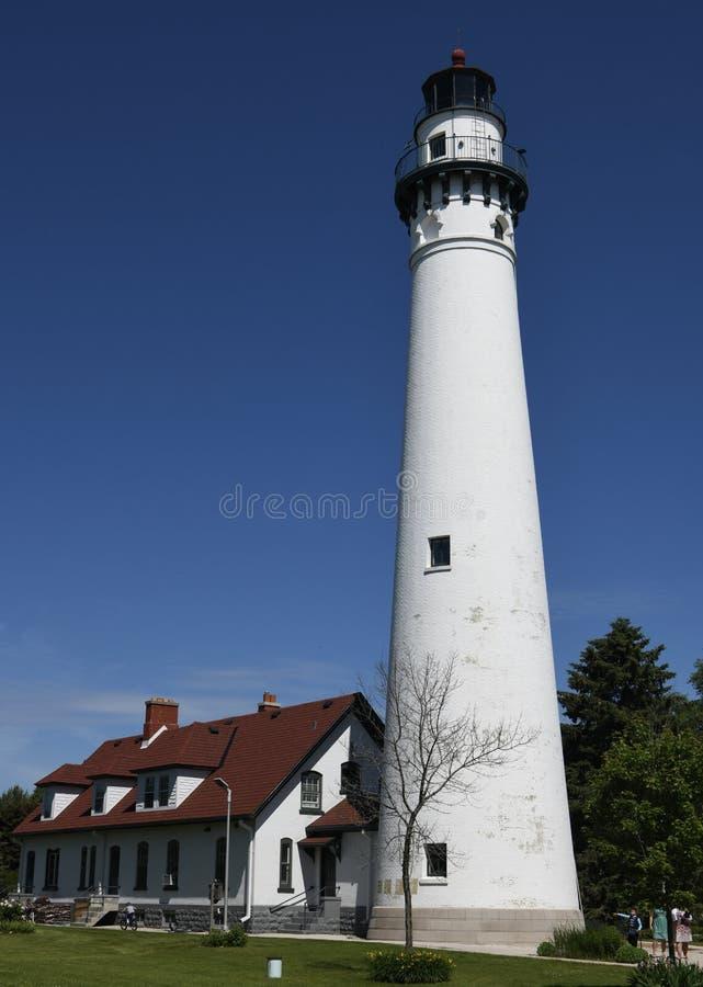 Wind-Punkt-Leuchtturm lizenzfreies stockbild