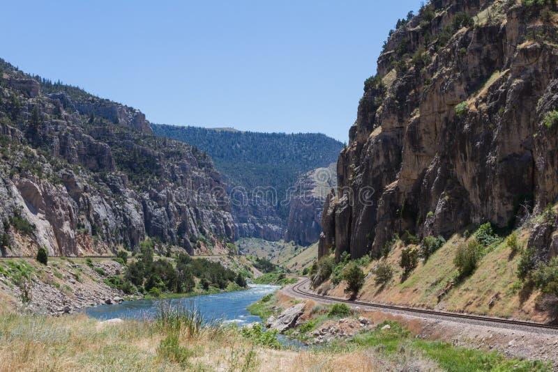 Wind River kanjon arkivfoto