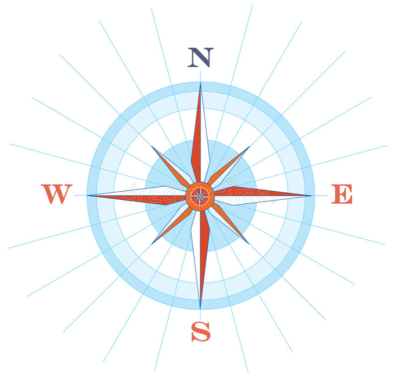 Wind Rose. Illustration of a compass wind rose royalty free illustration