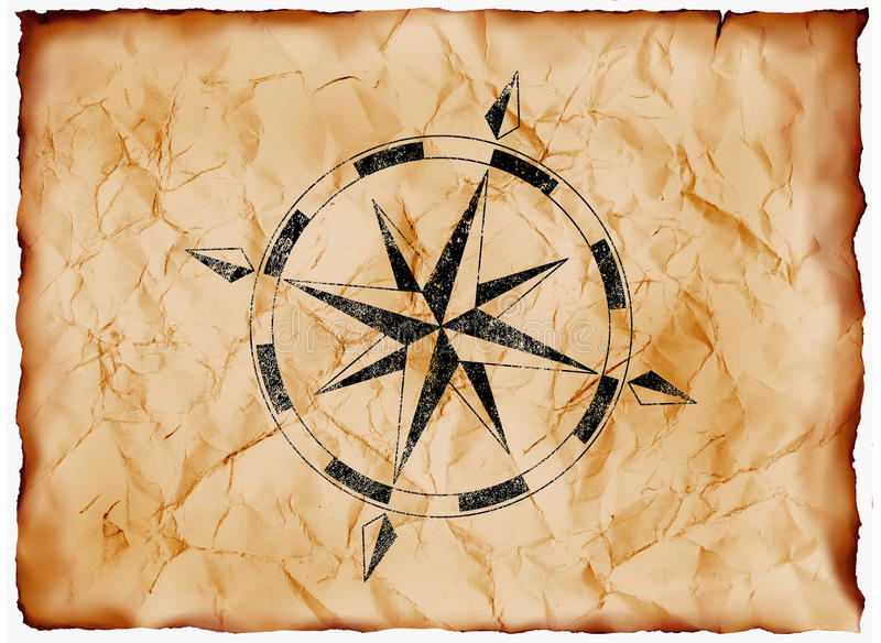 Wind rose compass stock images