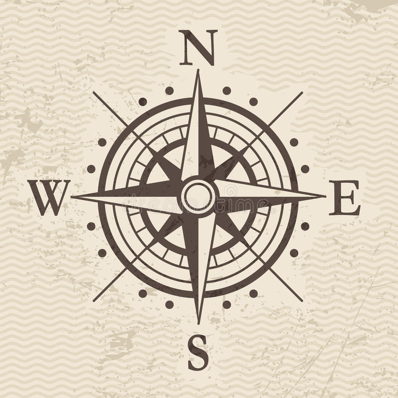 Wind rose. The direction of the compass