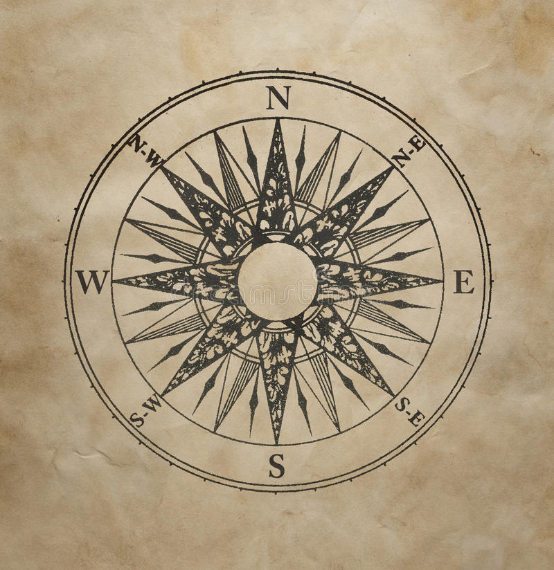 Wind rose stock image
