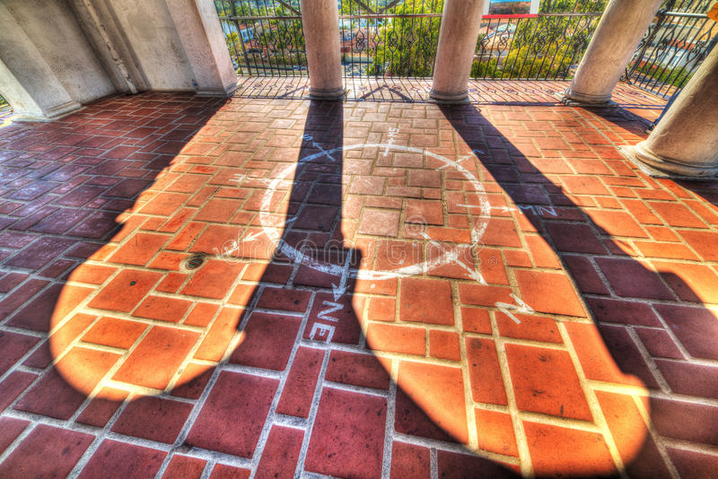 Wind rose in Santa Barbara courthouse. California royalty free stock images