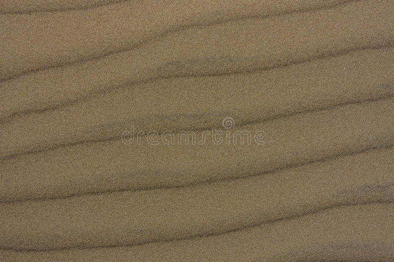 Wind and sand texture pattern. Patterns created from the wind in sand royalty free stock photography