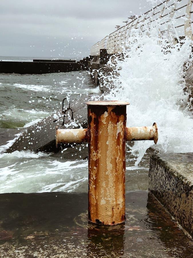 Wind and sea stock photo