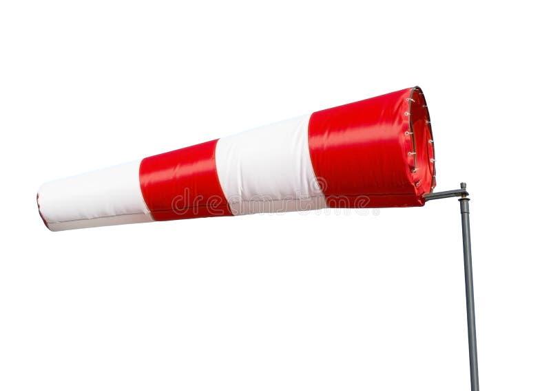 Wind sleeve flying. On white background stock photo