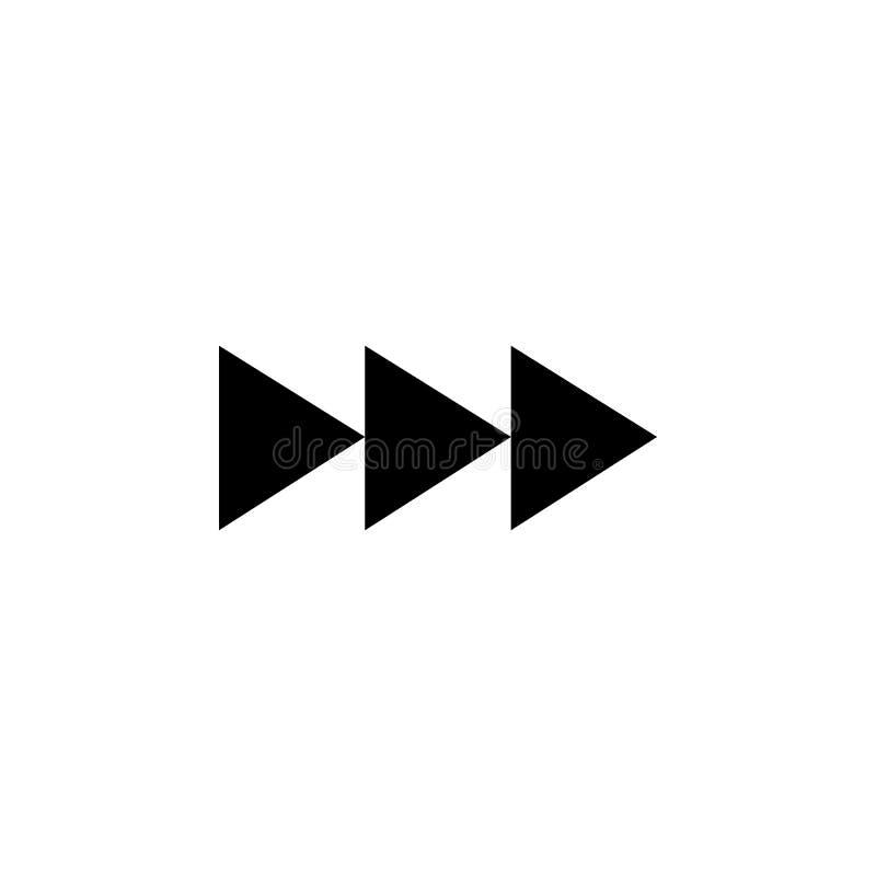 wind snel pictogram opnieuw op Element van Webpictogrammen Grafisch het ontwerppictogram van de premiekwaliteit Tekens en symbole stock illustratie