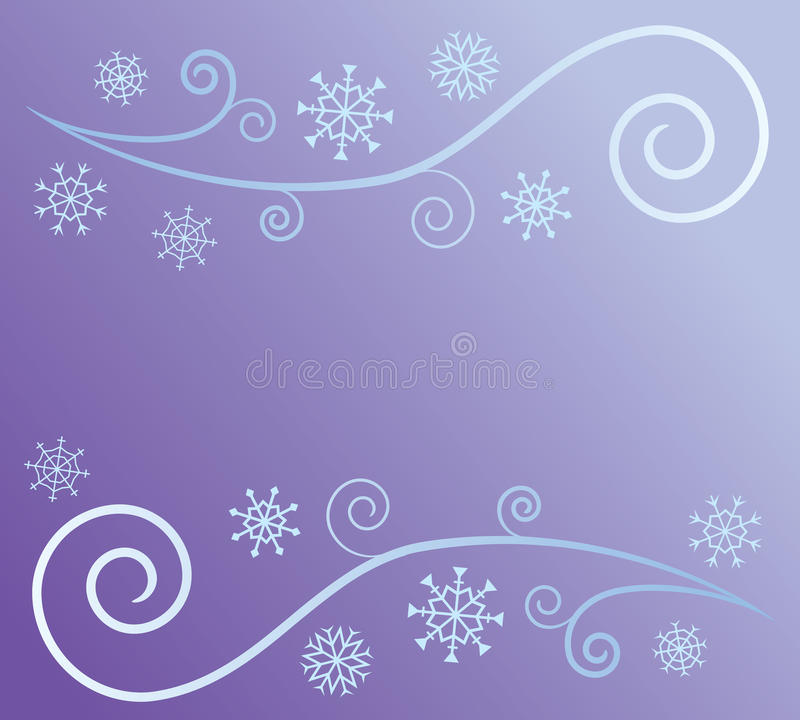 Wind and Snow Abstract stock illustration