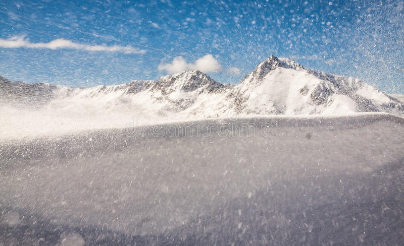 Wind and snow royalty free stock images