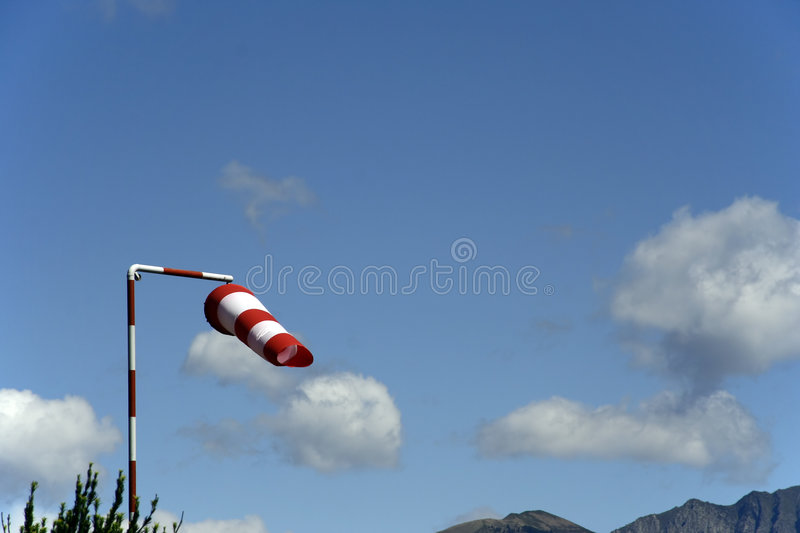 Wind sock and sky royalty free stock photos