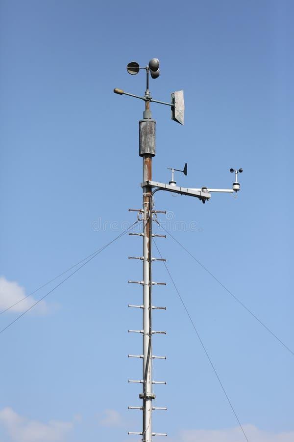 Wind speed meter. Outdoor wind speed meter profesional stock images