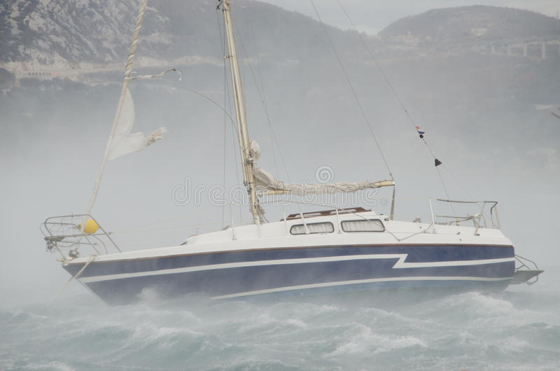 Download Wind storm stock image. Image of sailing, bura, yacht - 26624119