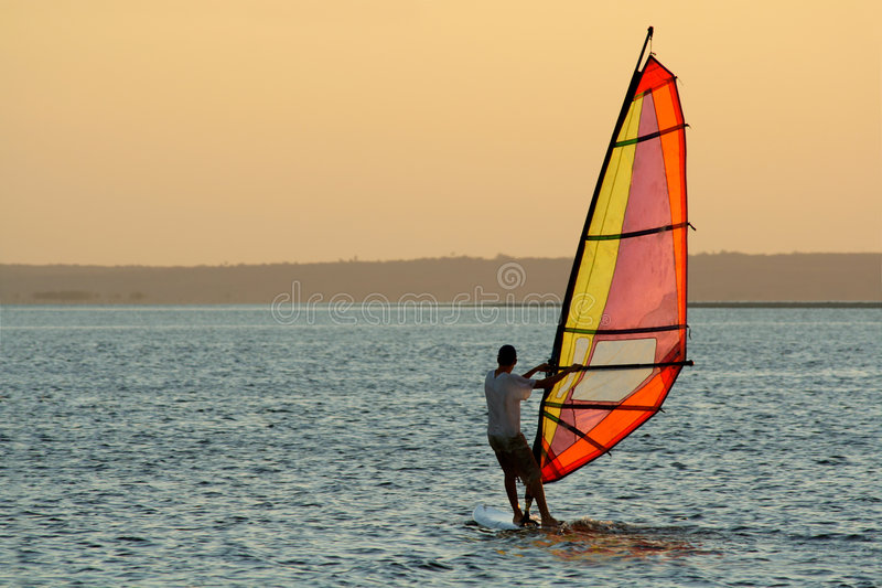 Wind surfer stock photos